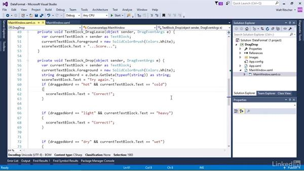 Use formats to send different data to the drop target: Windows Presentation Foundation 3: Events and the Event Model