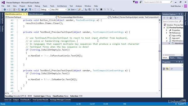 Use TextInput event to block user input: Windows Presentation Foundation 3: Events and the Event Model