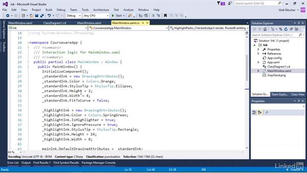 Use the InkCanvas: Windows Presentation Foundation 3: Events and the Event Model