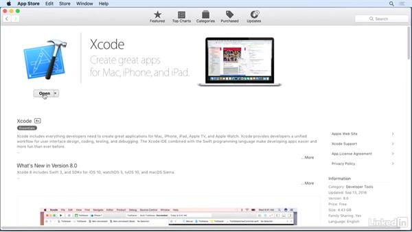 Find and install Xcode