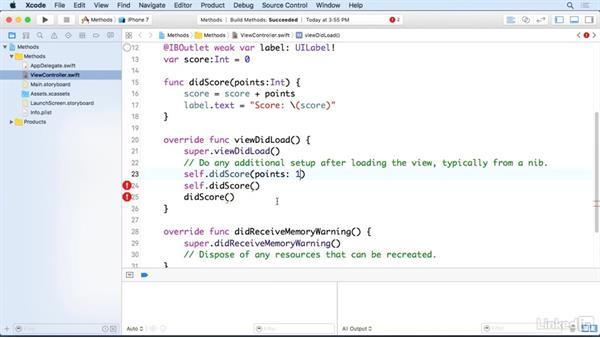 Understanding parameter methods: Programming for Non-Programmers: iOS 10 and Swift