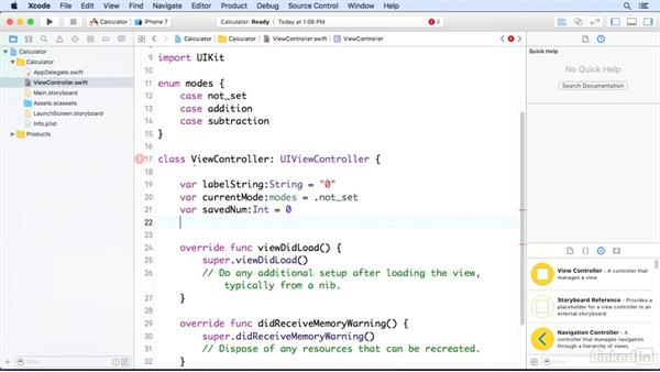 Set up instance variables and methods: Programming for Non-Programmers: iOS 10 and Swift