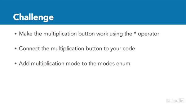 Challenge: Multiplication button: Programming for Non-Programmers: iOS 10 and Swift