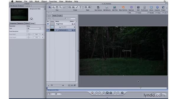 Creating basic particle systems: Motion 4 Essential Training