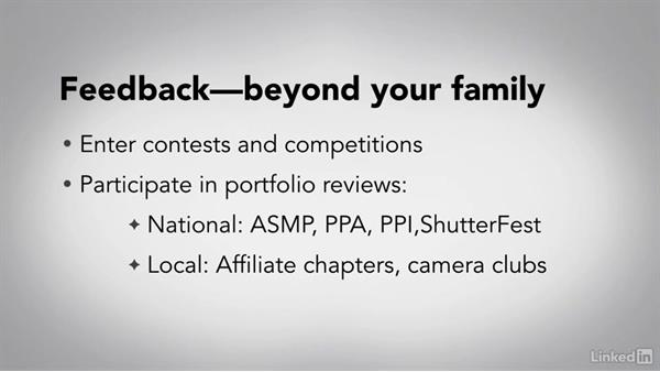 Contests, portfolio reviews, and local clubs: Running a Photography Business: The Basics