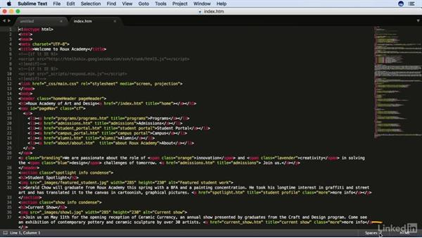 Touring the interface: Learn Sublime Text 3: The Basics