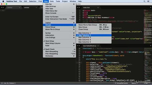 Working on multiple files at once: Learn Sublime Text 3: The Basics