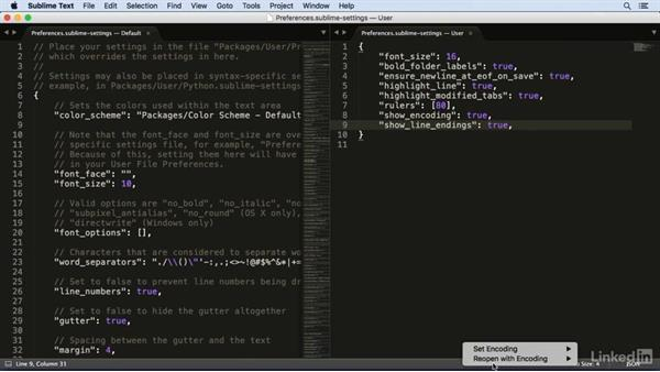 Recommended settings: Learn Sublime Text 3: The Basics