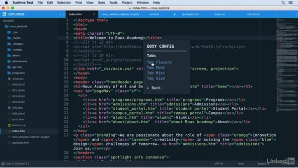 Adding custom themes: Learn Sublime Text 3: The Basics