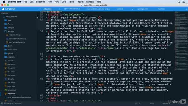 Bookmarking a position in the file: Learn Sublime Text 3: The Basics