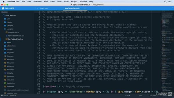 Using the Goto Anything command: Learn Sublime Text 3: The Basics