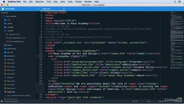 Creating a multiple selection using matches: Learn Sublime Text 3: The Basics