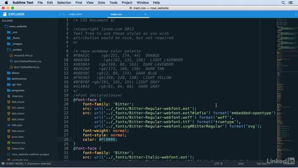 ColorPicker and GutterColor: Learn Sublime Text 3: The Basics