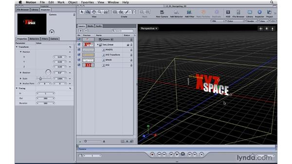 Working in 3D space: Motion 4 Essential Training