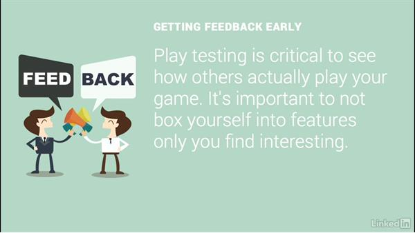 Get feedback: 2D Game Design and Development Essential Training