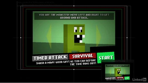 Support multiple resolutions: 2D Game Design and Development Essential Training