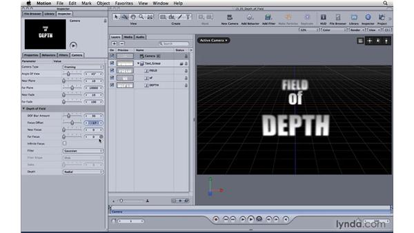 Simulating depth of field: Motion 4 Essential Training