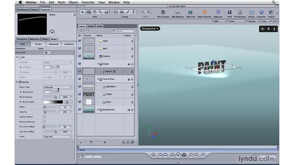 Using advanced paint tools: Motion 4 Essential Training