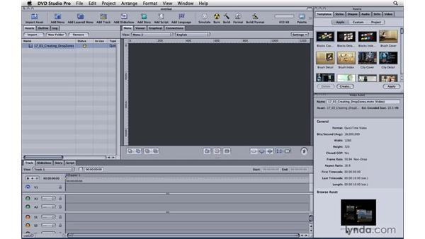 Importing Motion projects into DVD Studio Pro: Motion 4 Essential Training