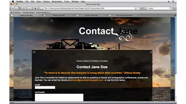 Overview: Creating a First Web Site with Dreamweaver CS4