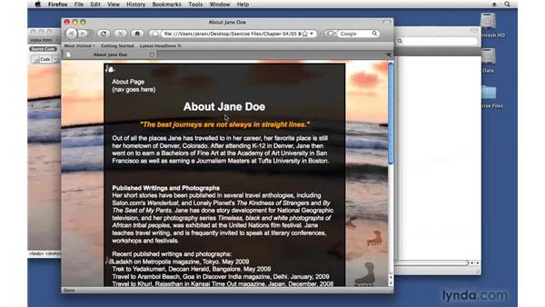 Overriding a CSS style: Creating a First Web Site with Dreamweaver CS4