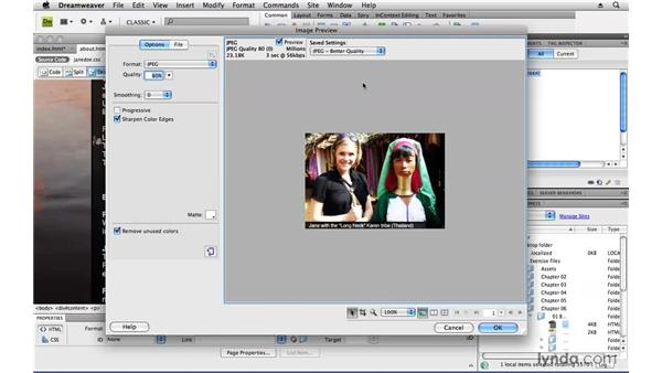 Importing and editing images: Creating a First Web Site with Dreamweaver CS4
