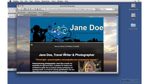 Inserting SWF content : Creating a First Web Site with Dreamweaver CS4
