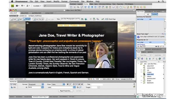 : Creating a First Web Site with Dreamweaver CS4