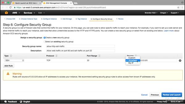 Create an EC2 instance: Amazon Web Services: Deploying and Provisioning