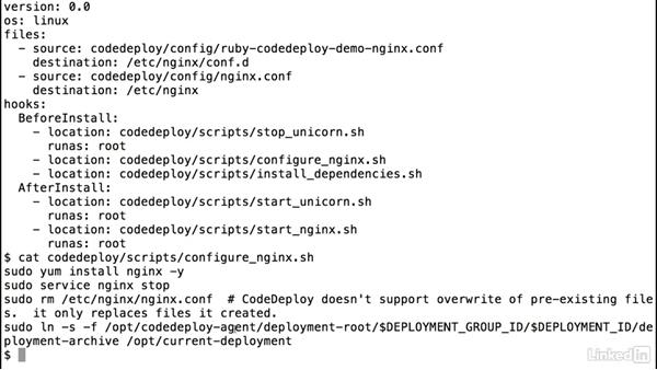 CodeDeploy: AppSpec and deployment: Amazon Web Services: Deploying and Provisioning