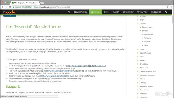 Where can you find custom themes?: Moodle Advanced Techniques: Working with Themes