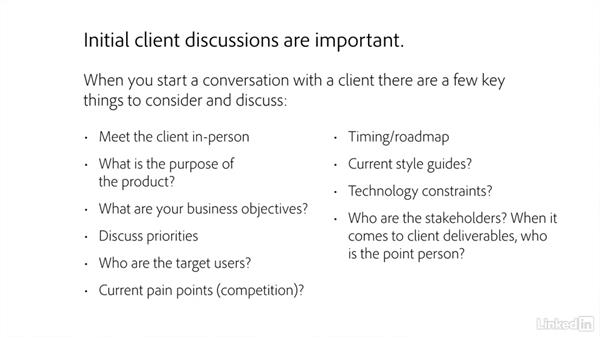 Initial client discussions: Freelance UX: Managing Clients