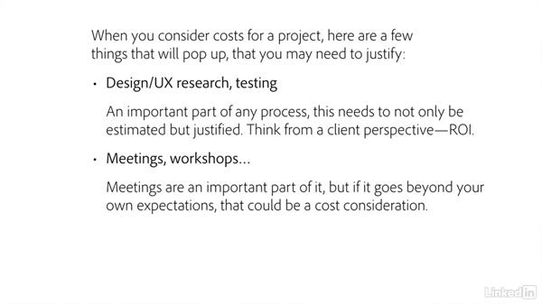 Justifying project expenses: Freelance UX: Managing Clients