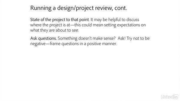 Design and project reviews: Freelance UX: Managing Clients