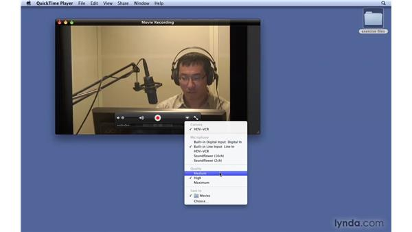 Using quick video and audio capture: Mac OS X 10.6 Snow Leopard New Features