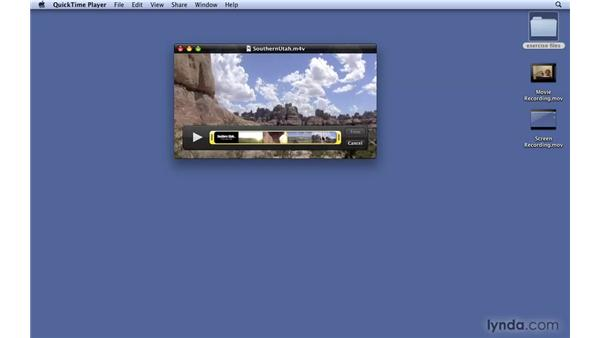 Using quick trimming: Mac OS X 10.6 Snow Leopard New Features