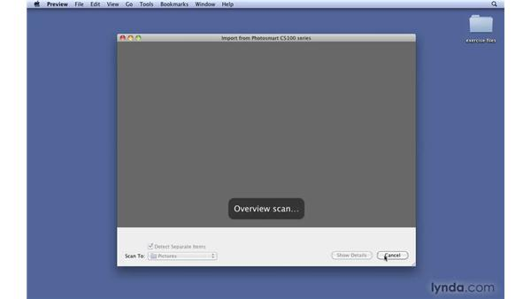 Importing from a scanner: Mac OS X 10.6 Snow Leopard New Features