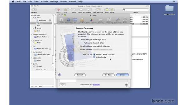 Working with Exchange support: Mac OS X 10.6 Snow Leopard New Features