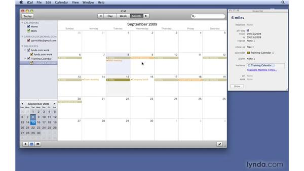 Viewing and editing events: Mac OS X 10.6 Snow Leopard New Features