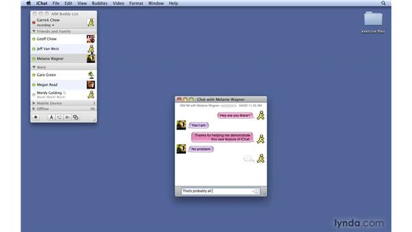 Displaying past conversations: Mac OS X 10.6 Snow Leopard New Features