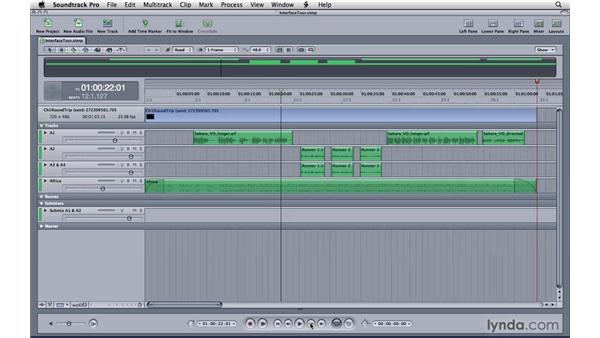 Working in the Timeline: Soundtrack Pro 3 Essential Training