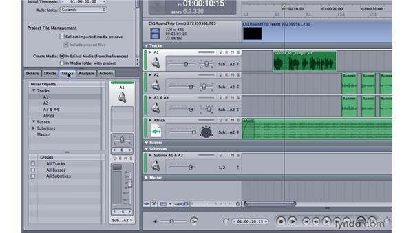 Touring the left pane: Soundtrack Pro 3 Essential Training