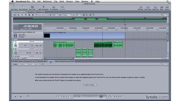 Touring the lower pane: Soundtrack Pro 3 Essential Training