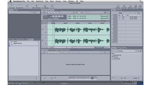 Introducing the File Editor : Soundtrack Pro 3 Essential Training