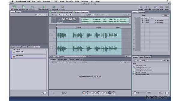 Adjusting levels: Soundtrack Pro 3 Essential Training