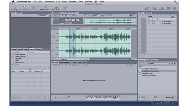 Analyzing and fixing problems: Soundtrack Pro 3 Essential Training