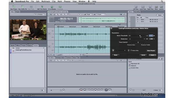 Reducing noise: Soundtrack Pro 3 Essential Training