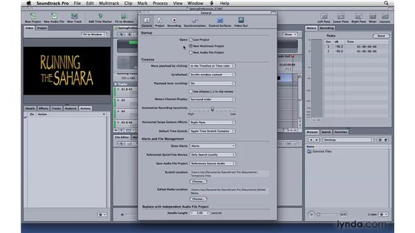 Setting multitrack preferences: Soundtrack Pro 3 Essential Training