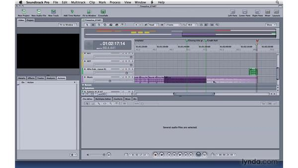 Using the Timeslice tool: Soundtrack Pro 3 Essential Training