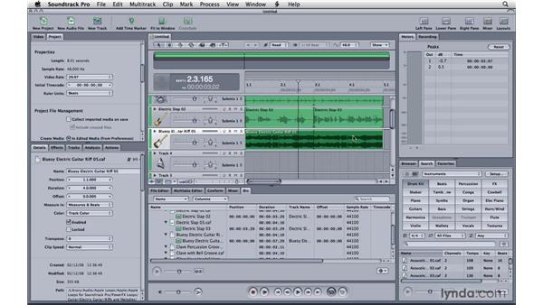 Creating a song : Soundtrack Pro 3 Essential Training
